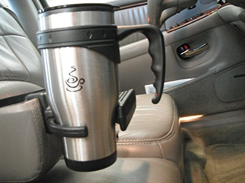 espresso trave Mug 16oz Insulated chic Stainless stainlesss steel Unique Splash Proof Snap on lid using Cool Slide Lock consist of ambigu Walled Plastic for awesome and Cold Thermal Insulation perfect Finger Grip Handle 100 entire life Guarantee Commuter trave Mugs
