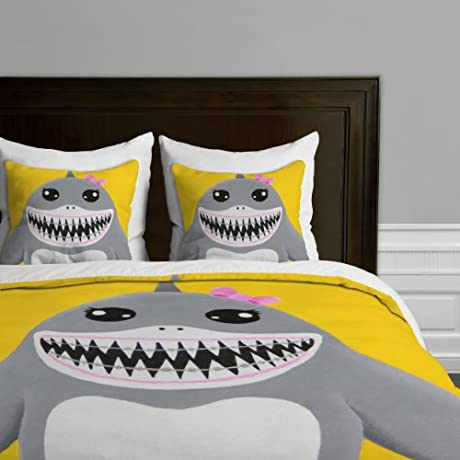 Deny Designs Mandy Hazell Shark Tooth Sally Duvet Cover Queen