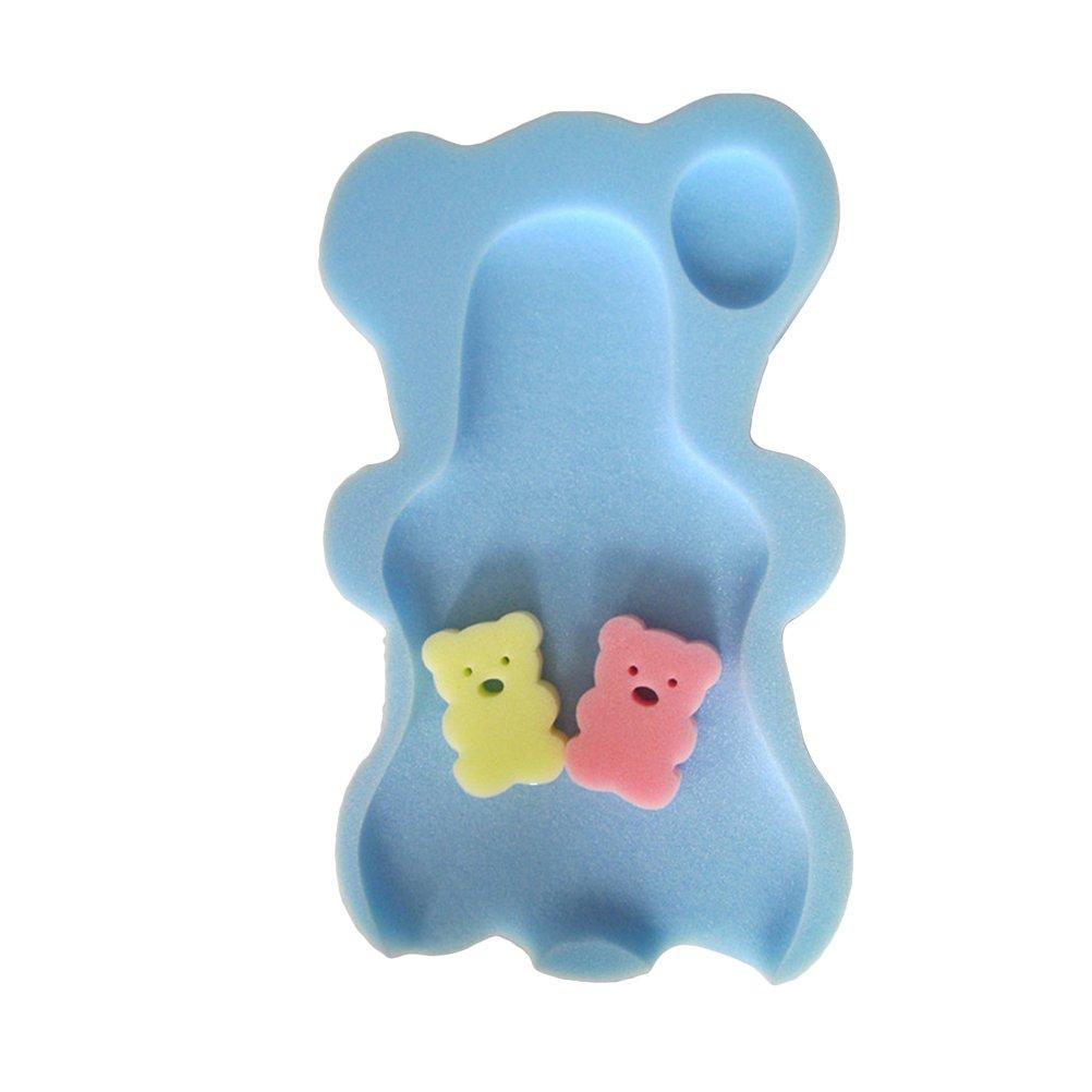 yeahibaby bebé alfombrilla de baño cómodo antideslizante esponja cojín para niños infantil y # xFF08; Azul y # xFF09;