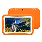 7'' Kids Tablet PC, Android 4.4 4GB ROM 512MB RAM Tablet Dual Camera WiFi USB Phablet Silicone Case