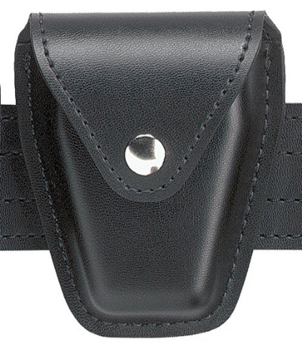 Safariland Duty Gear Chrome Snap Flap Top Handcuff Pouch (Plain Black) - Le Duty Gear Handcuff Pouch