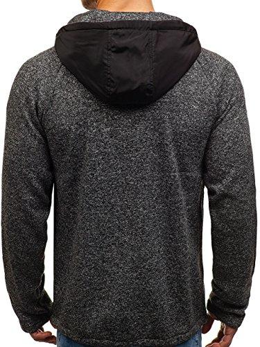 Bolf Pull Éclair Sweatshirt Fermeture De Coton 2920 Noir 1a1 Sport Capuche grnFAqwg6