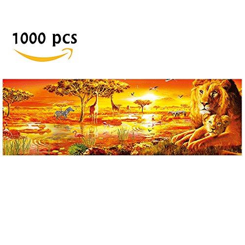 African Plains Safari Jumbo Jigsaw Floor Puzzle, 1000 Piece Panoramic Jigsaw Puzzle - African Plains Wall