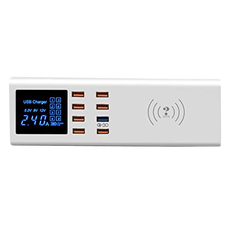 XGLL Puerto USB múltiple Cargador inalámbrico rápido,7 ...