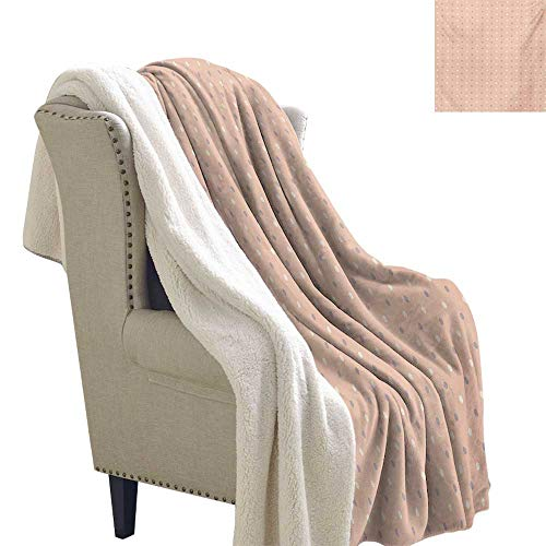 - Gabriesl Pink Digital Printing Blanket 60x47 Inch Romantic Vintage Classic in 50s 58s Style Image with Dots Pattern Print Print Summer Quilt Comforter Salmon Lilac and White