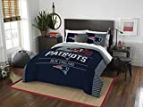 The Northwest Company NFL New England Patriots Draft Full/Queen Comforter and 2 Sham Set