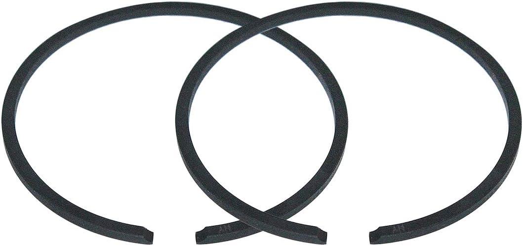 AUMEL 2Pcs//lot 45mm x 1.5mm Piston Rings Kit Fit Husqvarna 51 254 350 353 OLEO-MAC 753 Chainsaw parts.