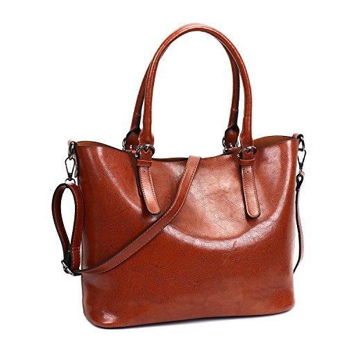 SIFINI bag Brown bag Satchel Shopper shoulder Stylish c Bag Casual PU Ladies Handbag Women Leather Tote wrHwFqT