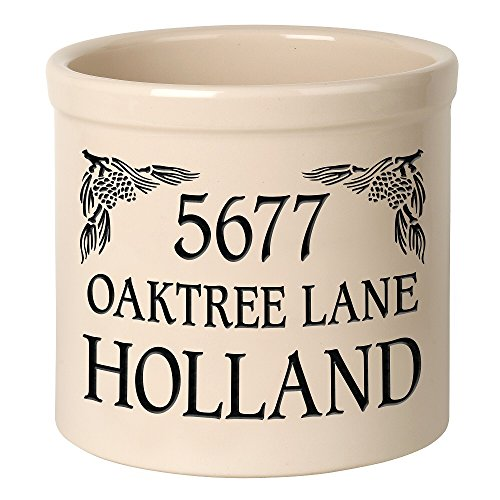 (Whitehall Personalized Pinecone Address Stoneware 2 Gallon Crock)