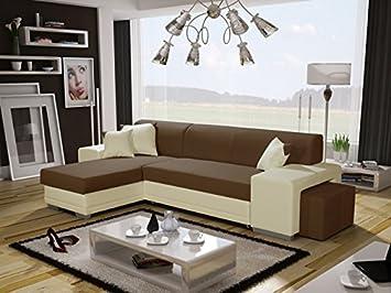Verani Doble Moderno Color marrón de Esquina sofá Cama con ...