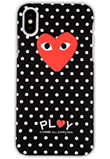 cedee200c162e Amazon.com: Comme Des Garcons Repeating Heart Logo iPhone X/iPhone ...