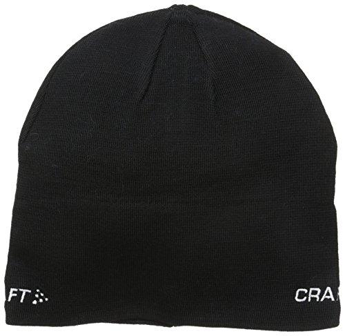 Craft Sportswear Unisex Knit Race Running Training Sport Beanie Hat, Black, Small
