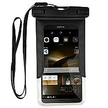 Premium Waterproof Dry Bag Pouch Case for LG G6 / G5 / LG Stylo 3 / Stylo 2 V / LG Stylus 3 / LG X Power 2 / Motorola Moto G5 Plus / Moto M / G4 Play / Huawei P9 P10 Plus / BlackBerry DKET60 (Black)