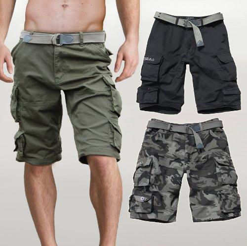 8e64d966583257 Fun Coolo Pantaloncini Corti Bermuda Cargo Short con tasconi Laterali, con  Cintura: Amazon.it: Abbigliamento