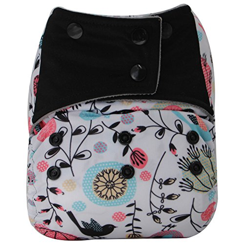 AIO Reusable Washable Cloth Diaper Nappy Charcoal Bamboo Insert Overnight (A-17)