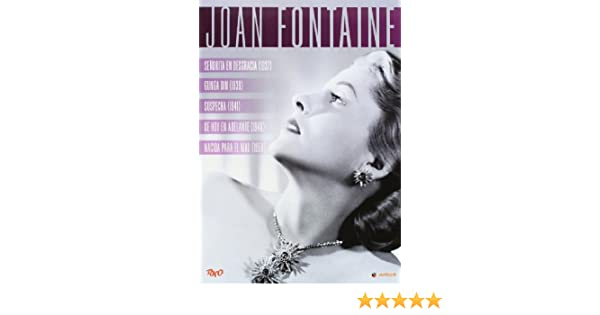 Pack Joan Fontaine [DVD]: Amazon.es: Joan Fontaine, Fred Astaire, George Burns, Cary Grant, Mark Stevens, Robert Ryan, George Stevens, Alfred Hitchcock, John Berry, Nicholas Ray, Joan Fontaine, Fred Astaire, Rko: Cine y