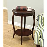 Frenchi Home Furnishing Walnut Round Accent Table, 18 …