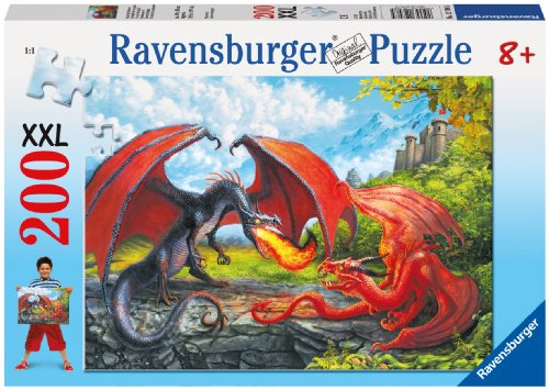 Ravensburger Dueling Dragons 200 Piece Jigsaw Puzzle for Kids - Every Piece is Unique, Pieces Fit Together Perfectly