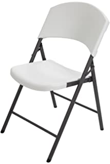 amazon com lifetime 42804 folding chair with molded seat and back