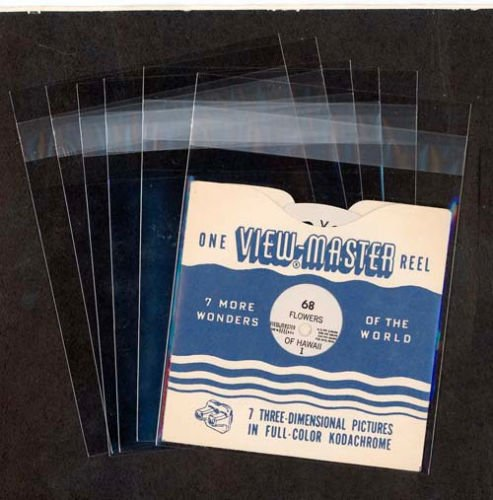 Clear Protective Sleeves for Single View-Master Reels - reusable - 100 per pack - Acid Free