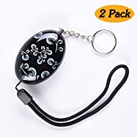 Delicate Printing Emergency Personal Alarm Keychain/the Wolf Alarm/Elderly/Attack/Protection/Self Defense Electronic with 120Db Good for kids/Who Work At Night/Adventurer/as a Bag Decoration(2 Pack)