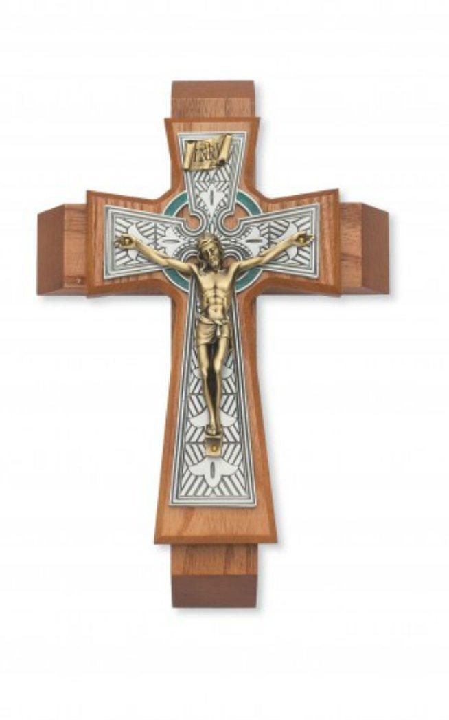 McVan Inc. 11'' Walnut Celtic Sick Call - Décor Gift Religious 79-42661-MCVAN