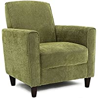 Enzo Solid-colored Accent Chair Green