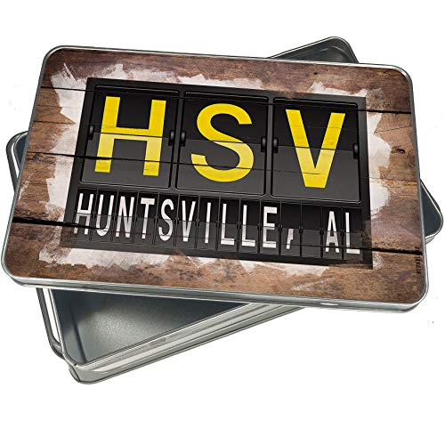NEONBLOND Cookie Box HSV Airport Code for Huntsville, AL Christmas Metal Container ()