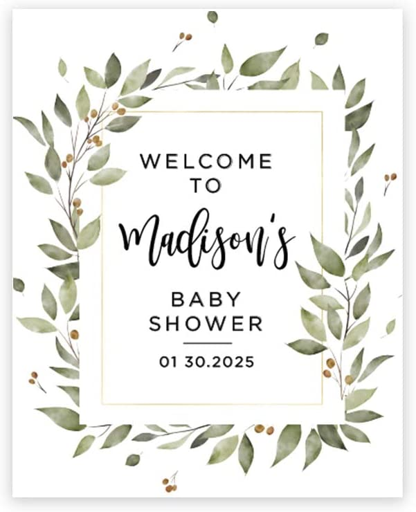 16 x 20 Inches for Jungle Safari Baby Shower Theme Personalized Sign Our Canvas Baby Safari Animals Leaf Foliage Guestbook Alternative Andaz Press Custom Large Baby Shower Canvas Welcome Sign