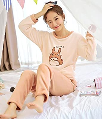 MH-RITA Pijamas Mujer Pajamas Set for Women Autumn and Winter Coral Sleepwear Female Thickening