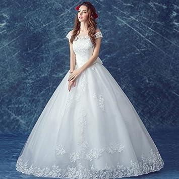 6b7c7f905df0c S C Live 「Wedding dress」ウェディングドレス 高級ドレス レース オフショルダー シンプル かわいいリボン