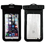 COOSKIN®Universal Waterproof Case Dry Bag with lanyard for iPhone 5SE 6s, 6 plus, 6, 6 plus, 5, 5s, Samsung Galaxy; Perfect for Outdoor Sports and IPX8 Certified to 100 Feet (Black)