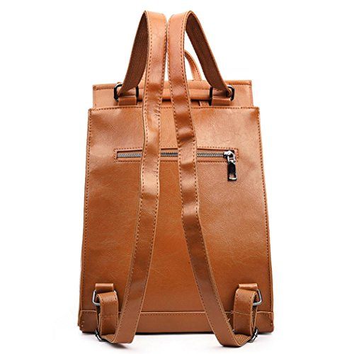 OverDose à Femmes Dos Travel à Bag School Sac Similicuir Satchels Brun Sac Backpack En Dos CqqYt