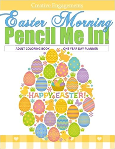 Amazon Easter Morning Adult Coloring Book One Year Day Planner Books In All Departments For Children D Basket
