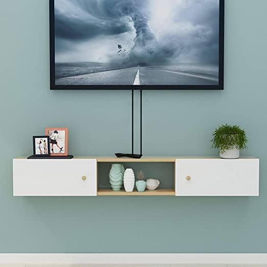 AFEO-Floating shelf Armario de Pared para TV, Dormitorio, Sala de ...