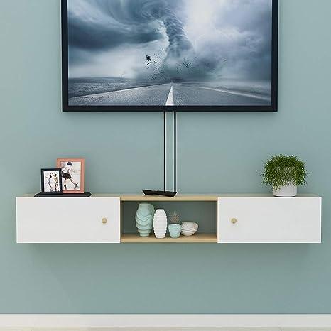 AFEO-Floating shelf Armario de Pared para TV, Dormitorio ...