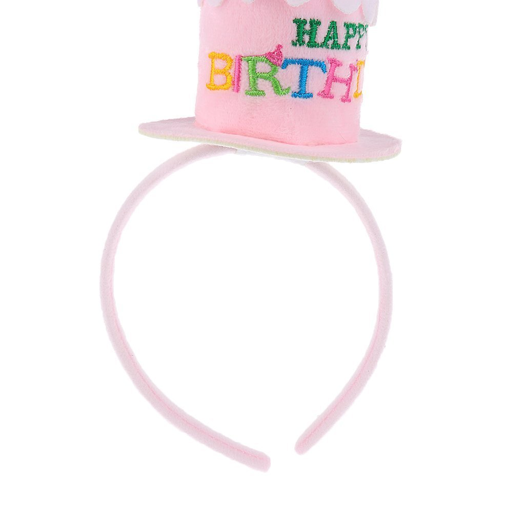 268b7786831 Amazon.com  Happy Birthday Cake Candles Headband Women Lady Girls Party  Hair Band Hat Fancy Dress Headwear Accessory Gift - Pink  Toys   Games