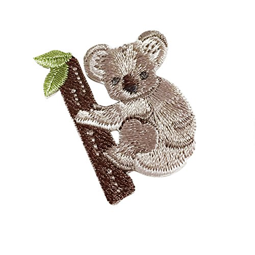 XUNHUI Lovely Koala Patches For Clothing Iron On Patches Stickers For Clothes Decoration Garment Applique Accessories 5 Pieces