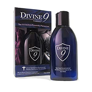 Siam Circus 2 Pack Divine 9 Water Based Personal Lubricant Intimate Sex Lube 4 Oz Bottles
