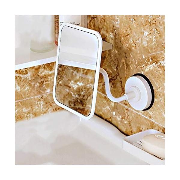 Specchio per il trucco A parete Specchio da toilette, Ventosa portatile rettangolare HD 360 gradi di rotazione tazza di… 3 spesavip
