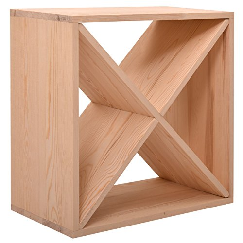 Tobbi Tabletop 24 Bottle Wine Rack Wood Stackable Storage Cube Display Shelves Kitchen by Tobbi