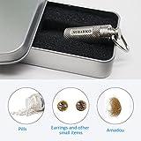 NUBARKO Mini Pill Fob, Titanium Keychain Pill