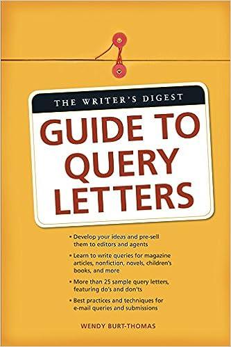 Sample Query Letter - Charlotte Dillon