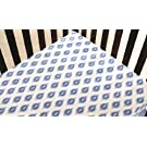 Dena Indigo Fitted Sheet, Blue/White (Discontinued by Manufacturer)