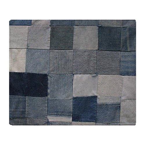 CafePress Denim Quilt Texture Soft Fleece Throw Blanket, 50