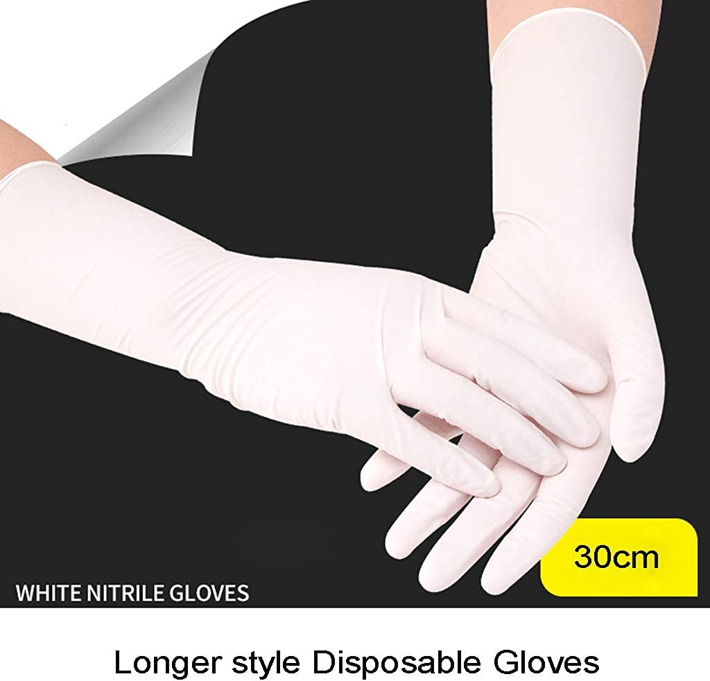 ER-NMBGH 50pcs Waterproof Disposable Washing Cleaning Nitrile Gloves Work Safety Gloves,Nitrile Dishwashing Gloves Food-Grade Red Dishwasher Gloves for Cleaning Dish Washing Pet Hair Care Car Washing