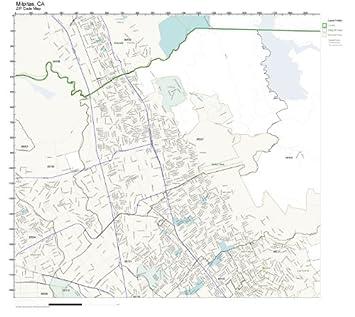 Amazon.com: ZIP Code Wall Map of Milpitas, CA ZIP Code Map ...