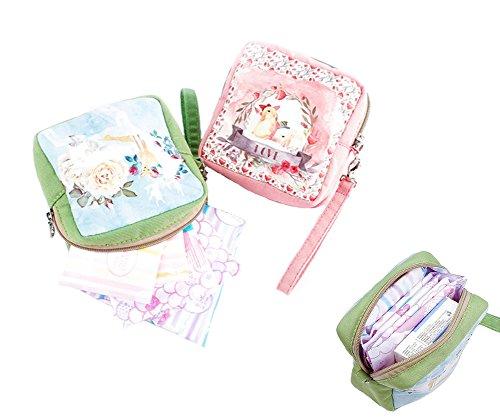 Smiling Angel Womens Cute Cartoon Cotton Tampon Sanitary Pad Storage Holder Bag - Angel Handbag Holder