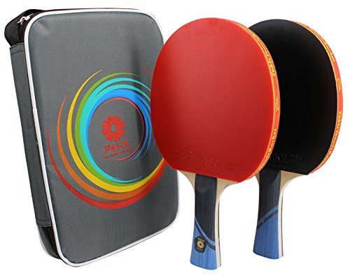 2- Player PASOL 4 Star Advanced Training Ping Pong Paddle Premium Practice Table Tennis Rackets by PASOL