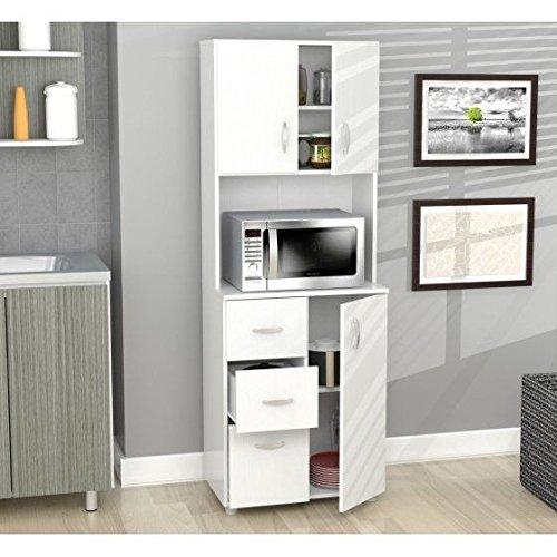 Microondas armario, cocina, de almacenamiento con cajones, asas de ...